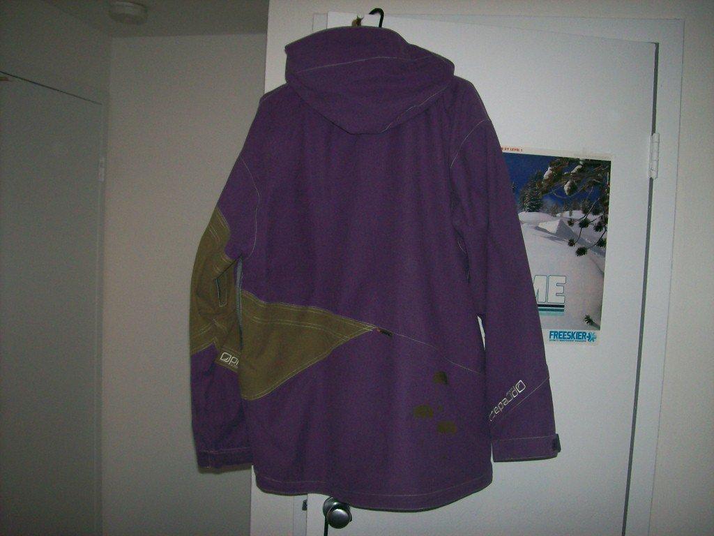 Back of predatorwear jacket