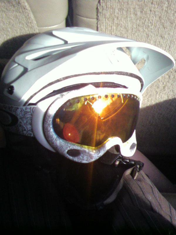 New helmet and goggles