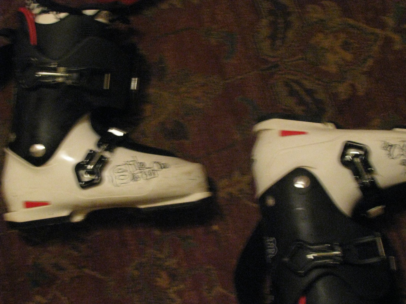 The boots with out flash kinda dark