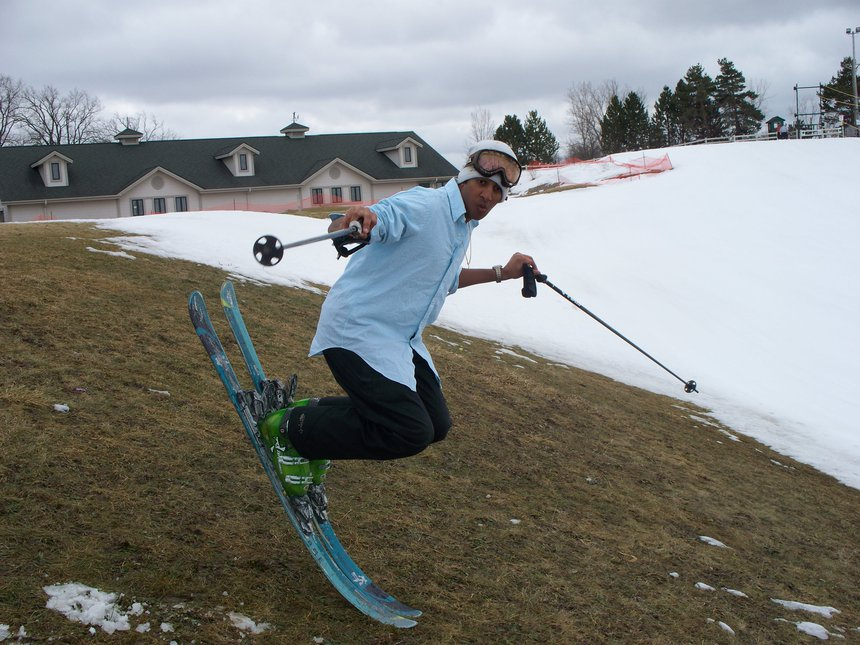 Kumar on Skis