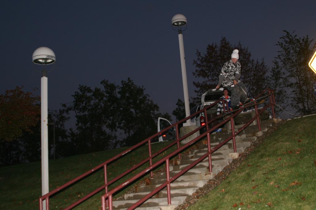 First handrail of the season