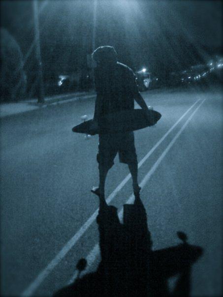 Longboard at night