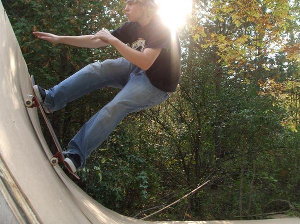 Skating my backyard ramp