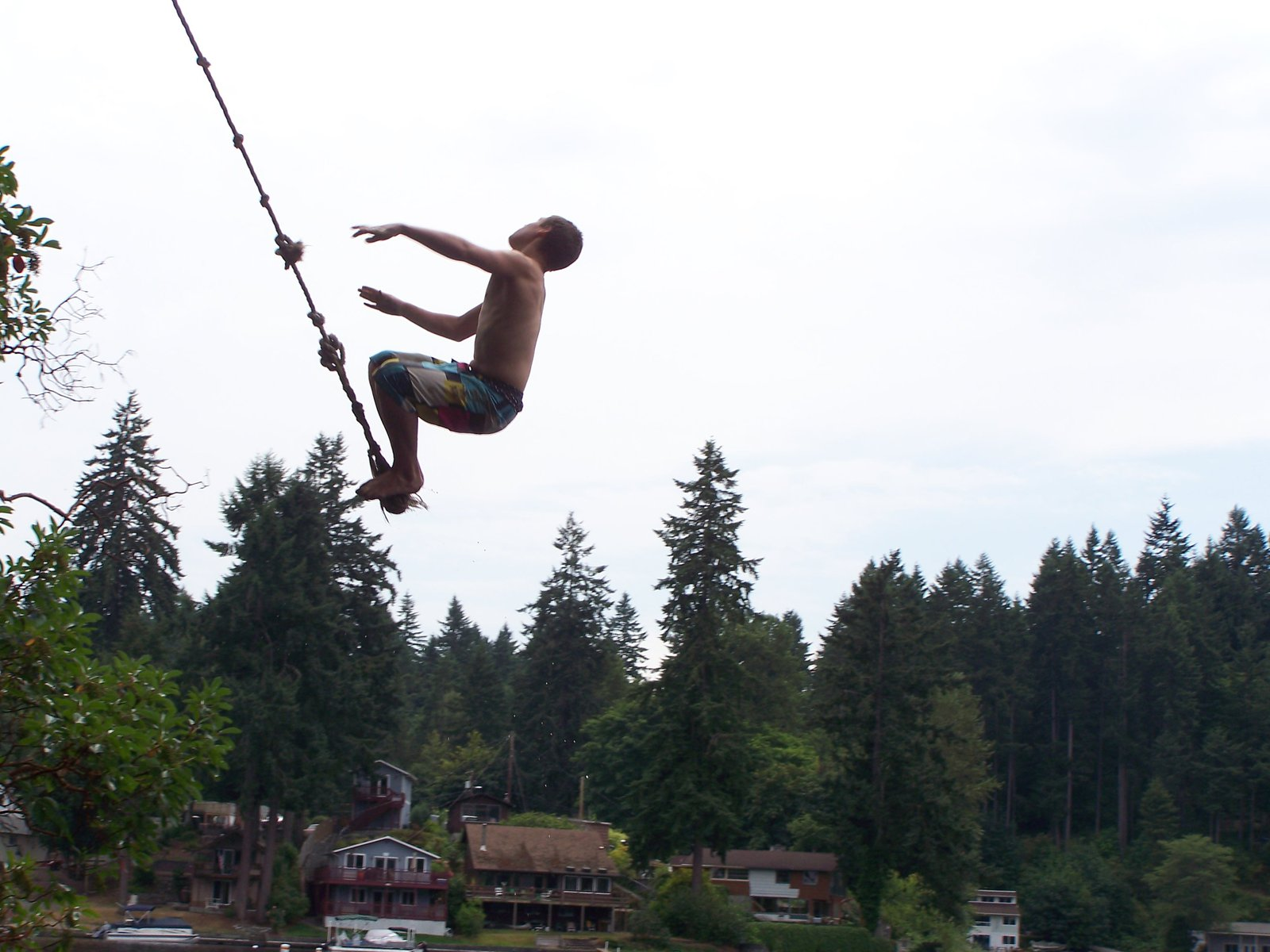 Ropeswing backflips