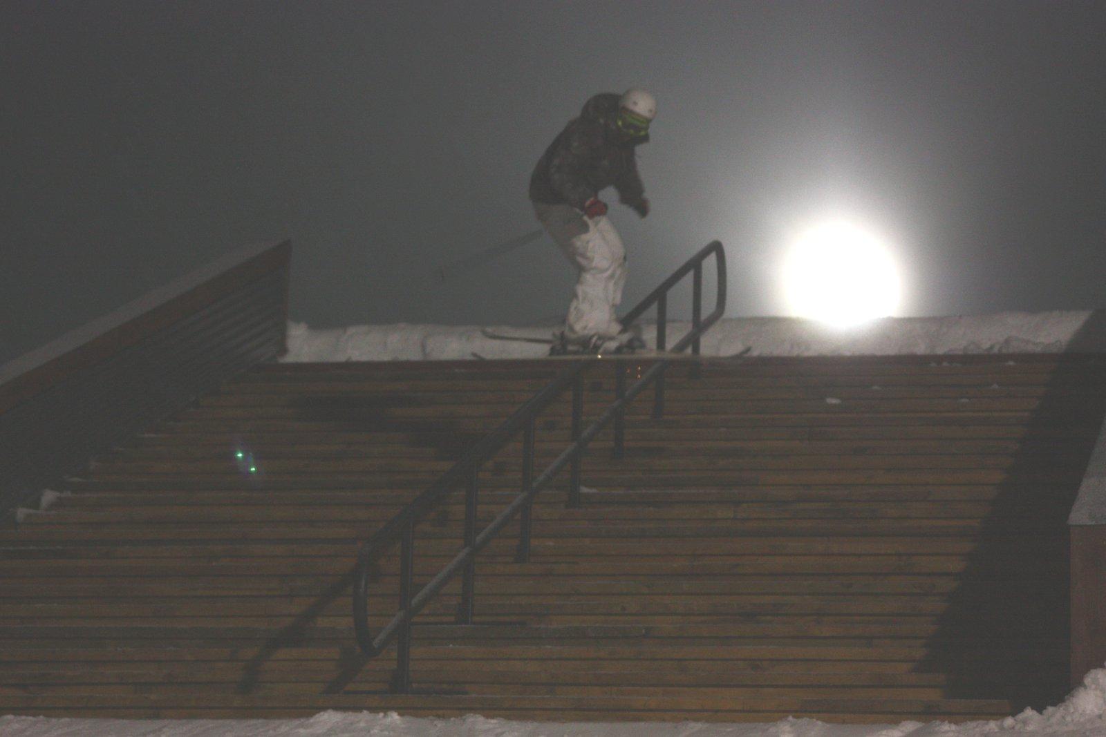 Snow Park NZ stair set, night session