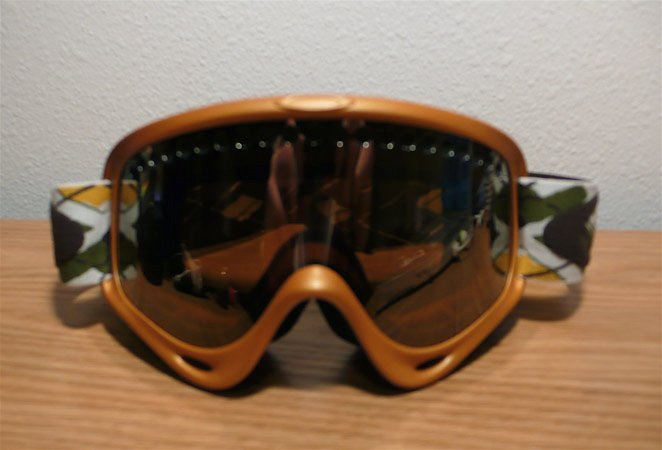 Oakley O Frame Harvest Gold/Argyle band - Reflective lens
