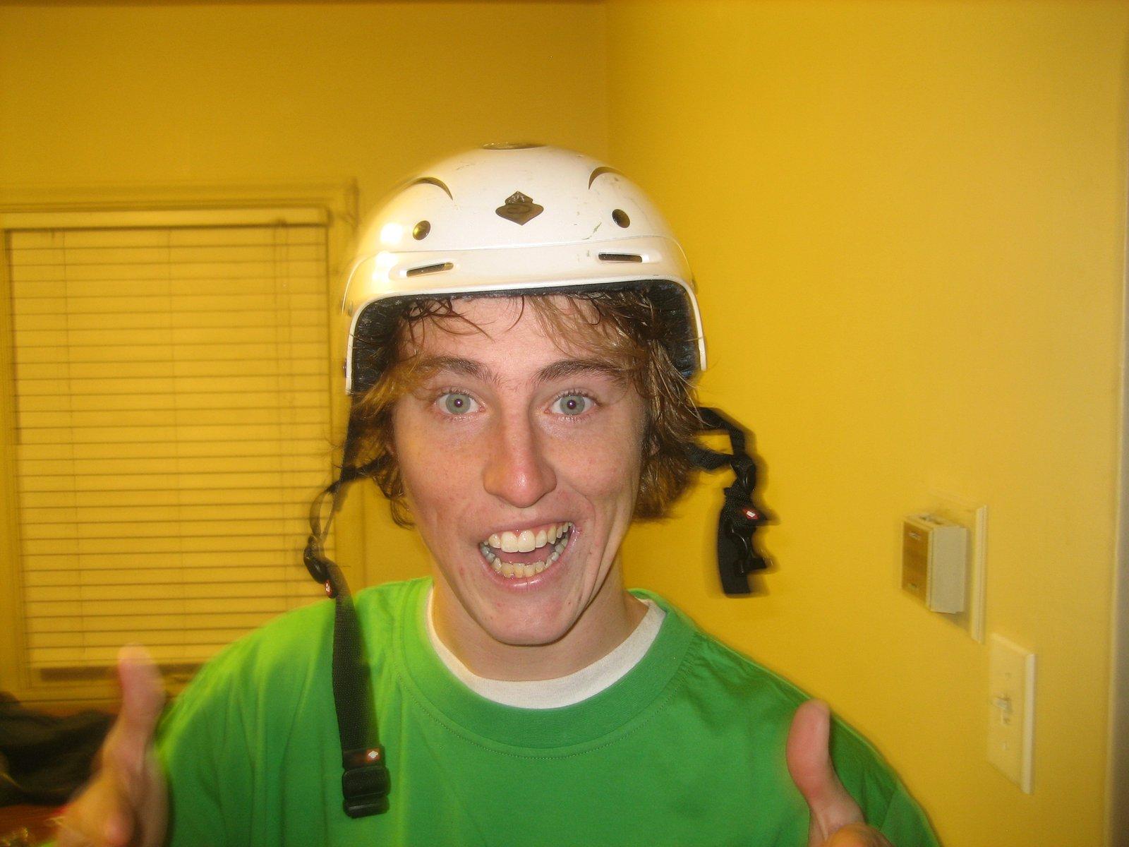 Tommy in helmet