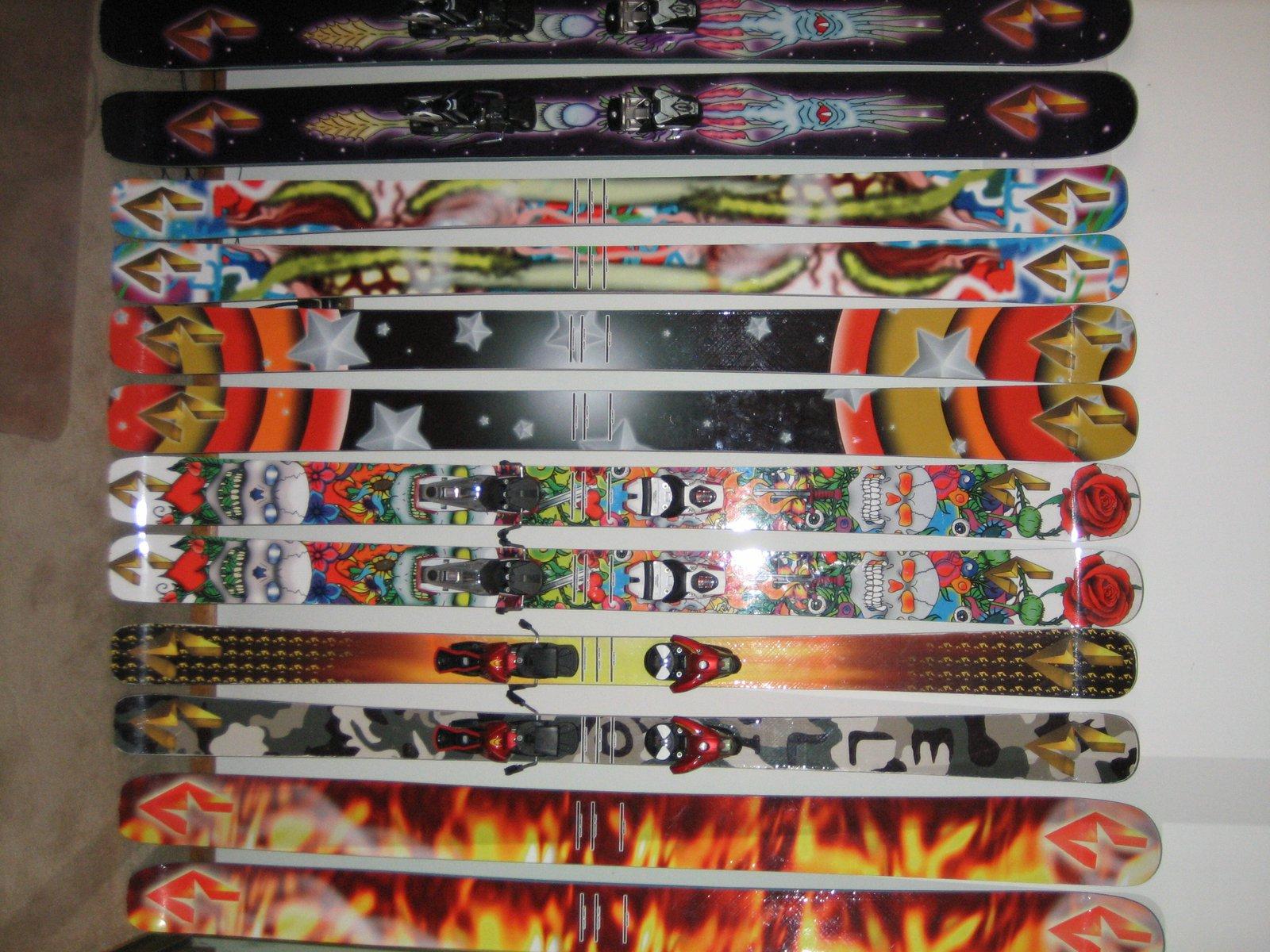 Ellison skis '08 protos
