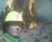 Me burning junis