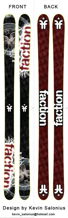 Faction skis design