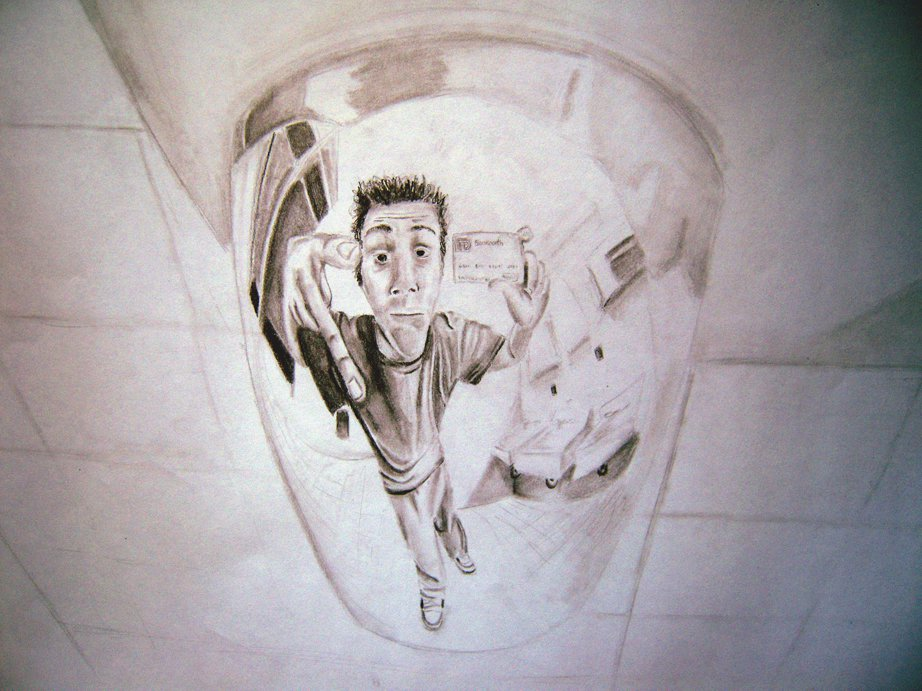 Self portrait (distorted)