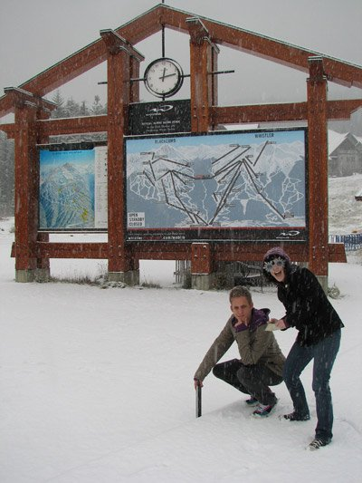Whistler Blackcomb snowphone team - Alex and Stephen