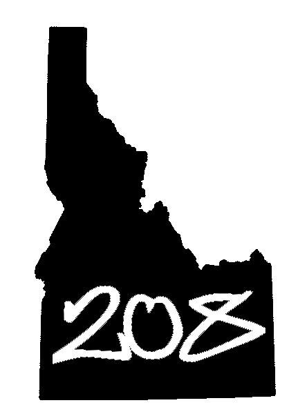 Idaho 208 sticker design