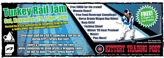 Turkey Rail Jam Flyer