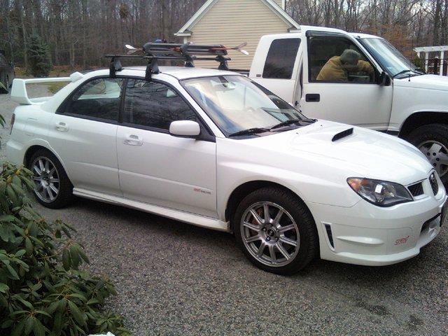 My car.  new roof/ski racks