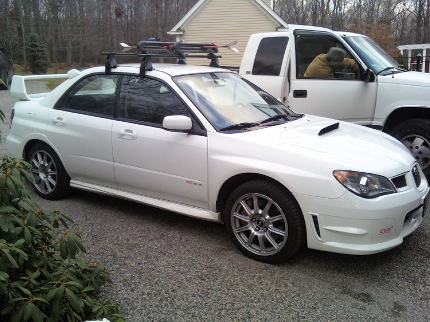 My car.  new roof/ski racks