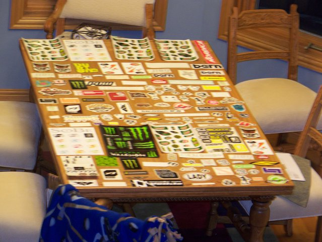 My stickers(aerial view)
