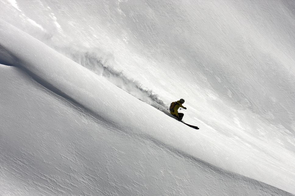 Early season pow in the alps