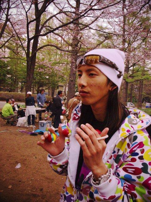 Shoya Okazaki with Cherry Blossom
