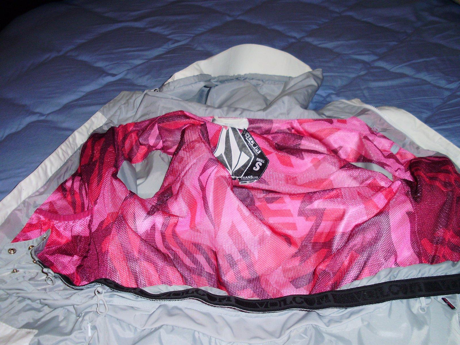 Volcom coat inside