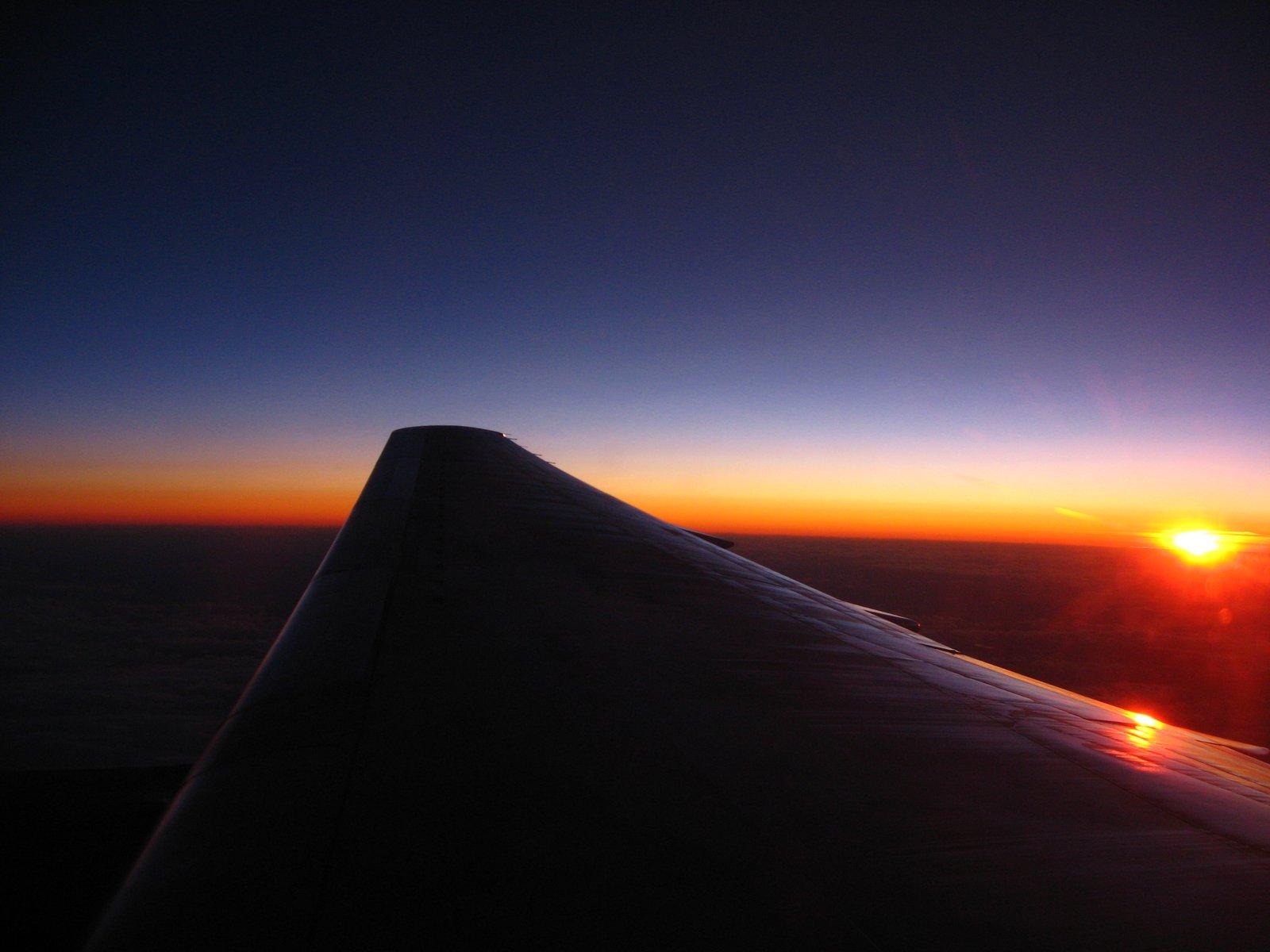 Sunset on Airplane