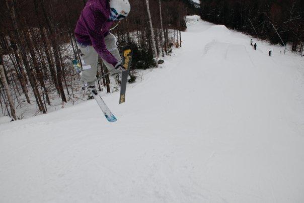Ski grab follow Cam!