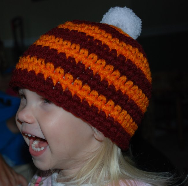 Niece loving her hat
