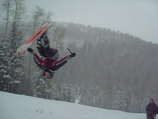 Me doing a sick backflip