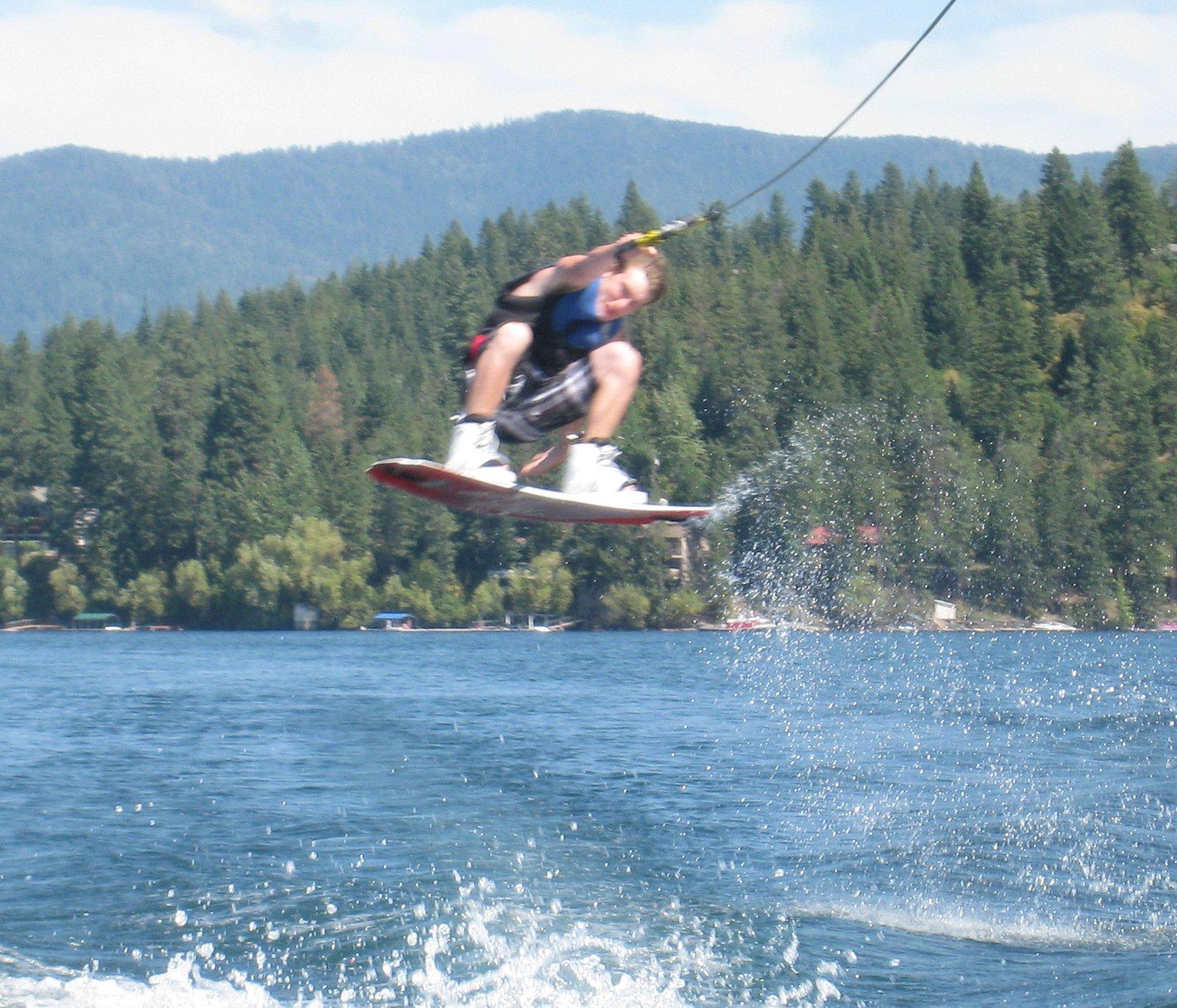 Wakeboarding on hayden lake