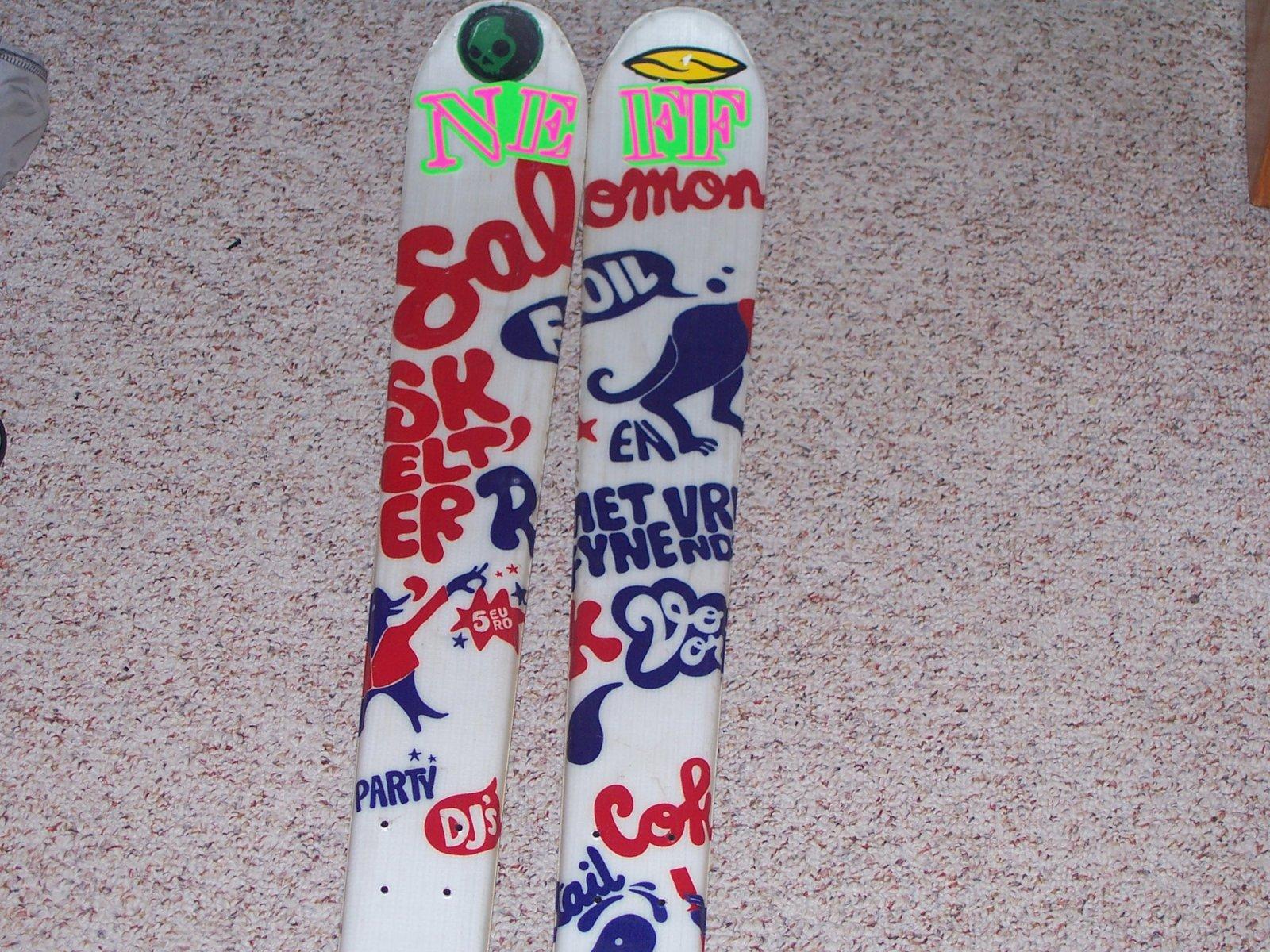 My skis  Salomon foils