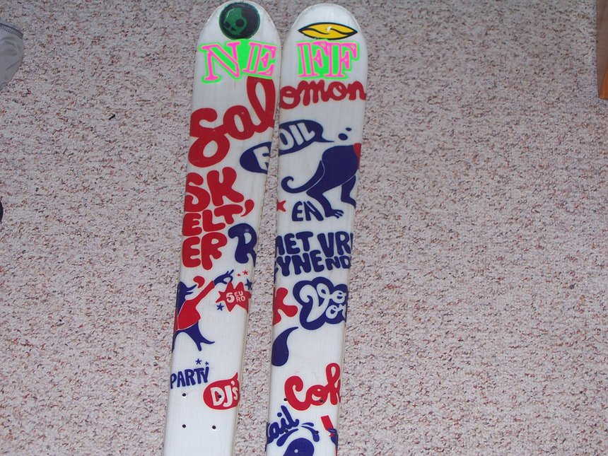 My skis  Salomon foils