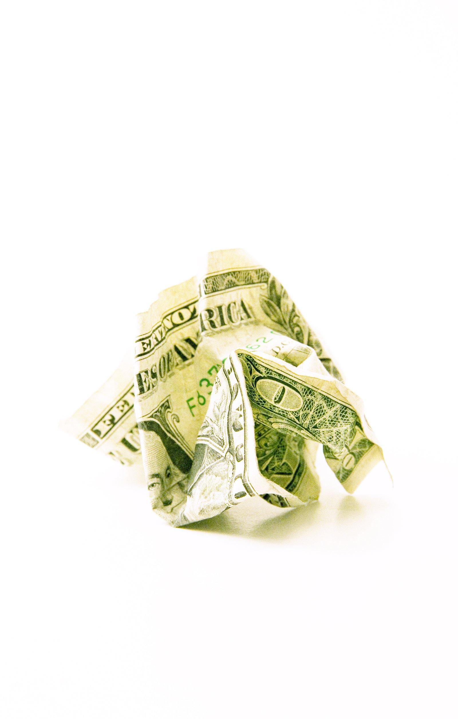 Crumpled Income.