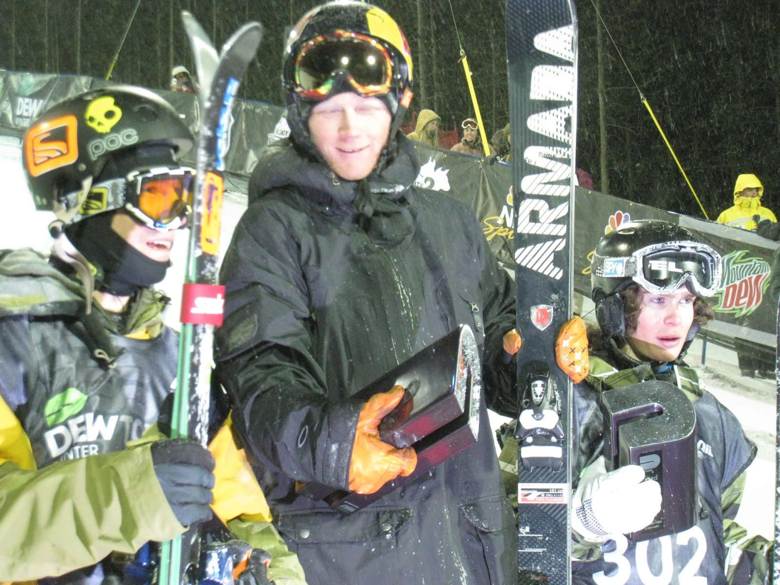 Justin Dorey, Tanner Hall, Ducan Adams-Breck Dew Tour