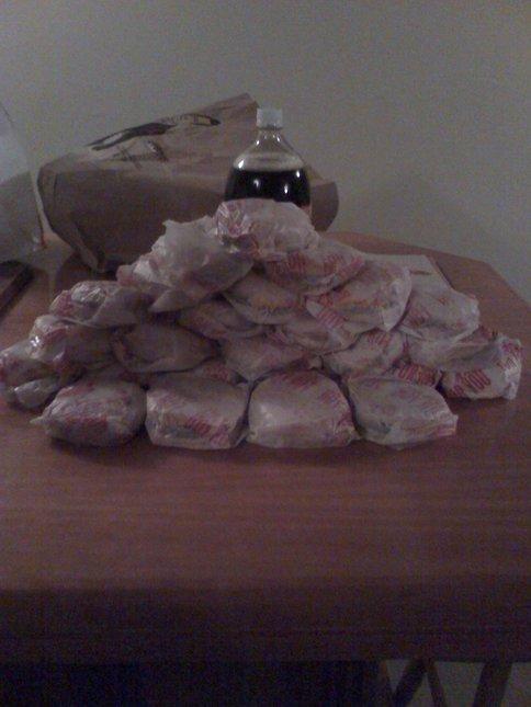25 Double Cheeseburgers