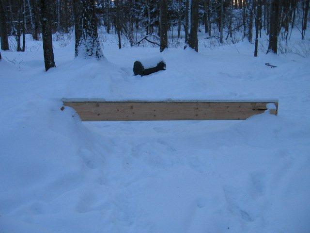 Backyard pvc rail.