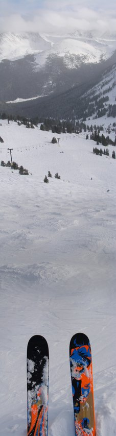 Drop in on copper bowl