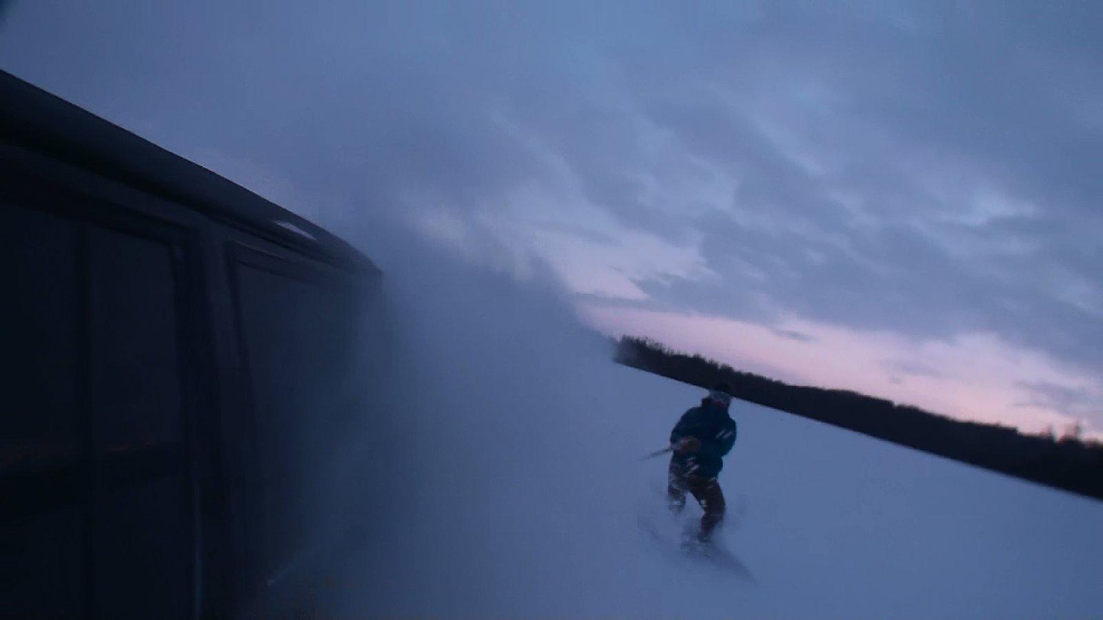 Farmer's skiing