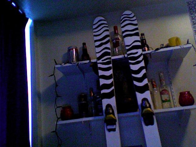 Zebra skis, top