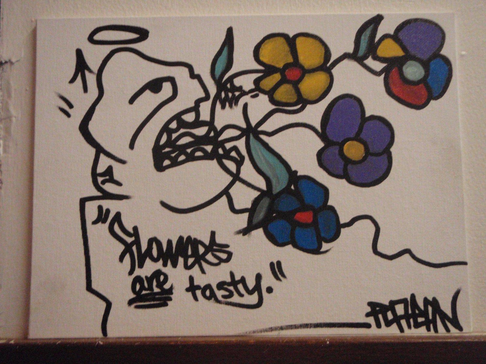Flowers are tasty