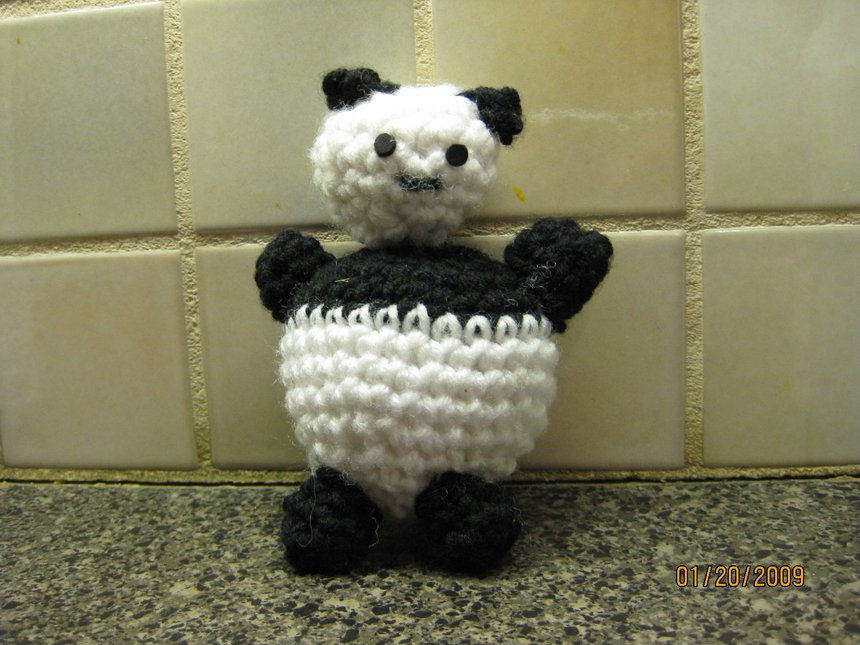 Crocheted Panda