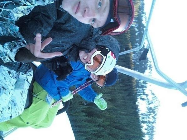 On the lift about to shread