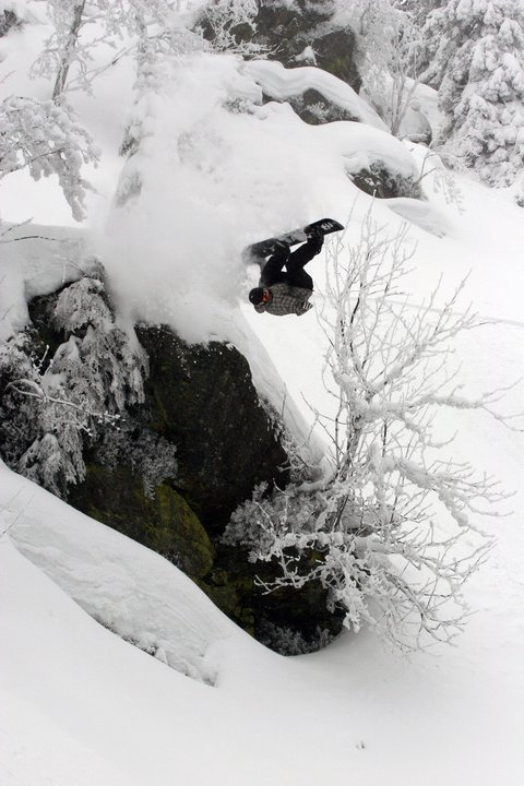 Frontflip off cliff