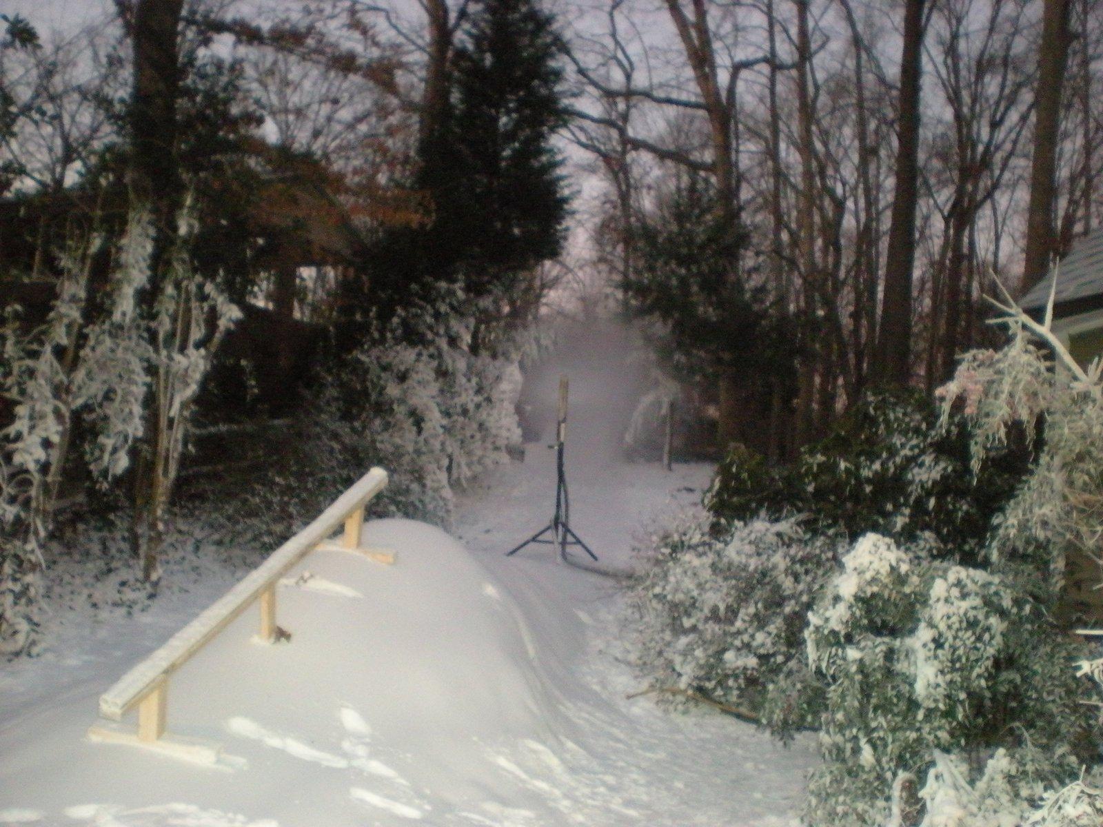 Made snow