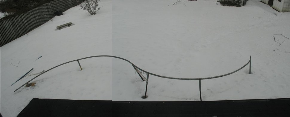 S-rail backyard set-up, 48ft