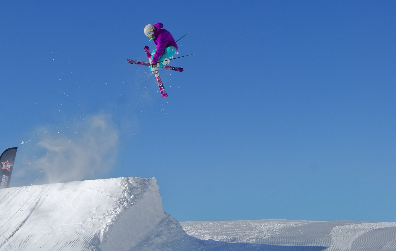 Octo Grab on the Slopestyle