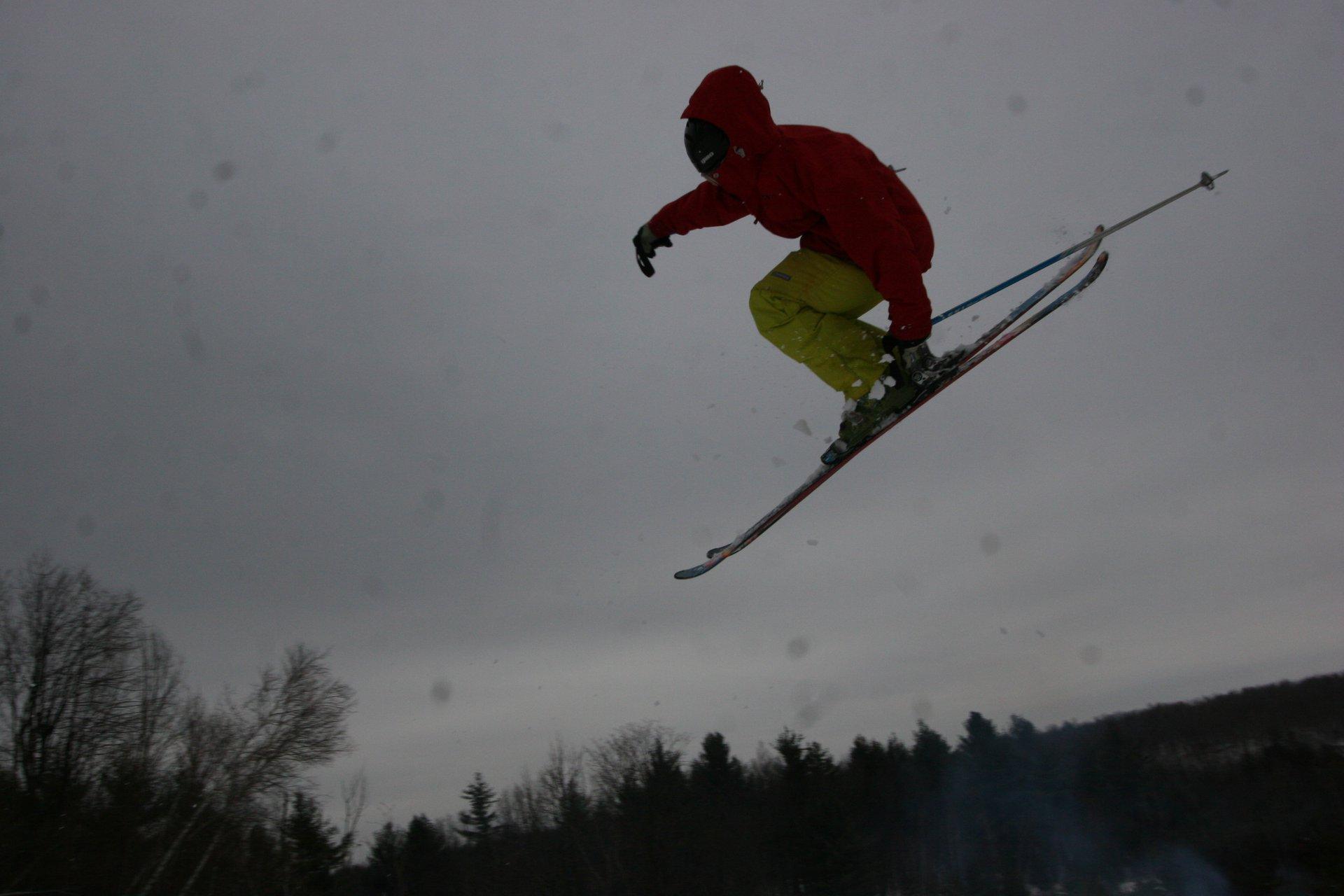 3 on a backcountry jump