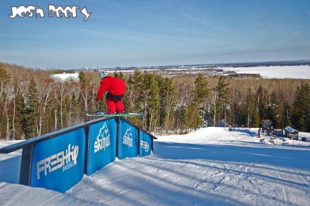 Ski hut flat down