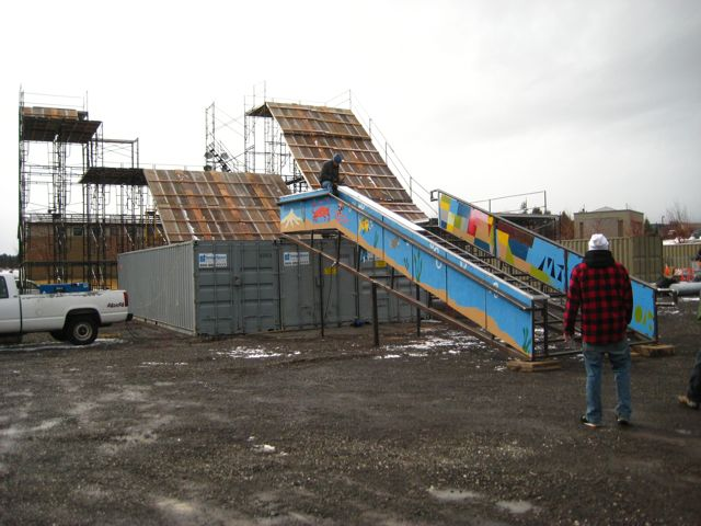 Bend Winterfest Construction