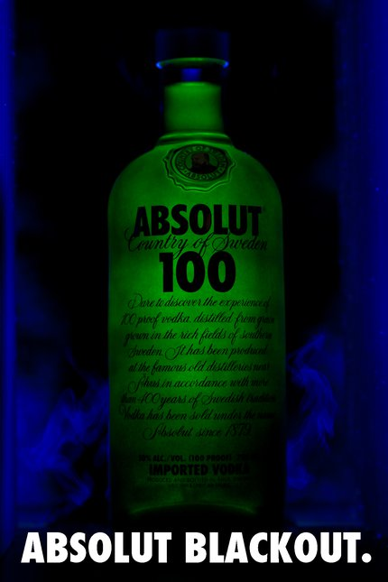 Absolut Blackout.