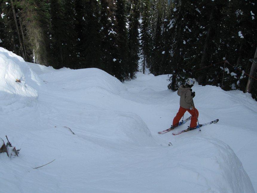The trail leaving the backside of revelstoke